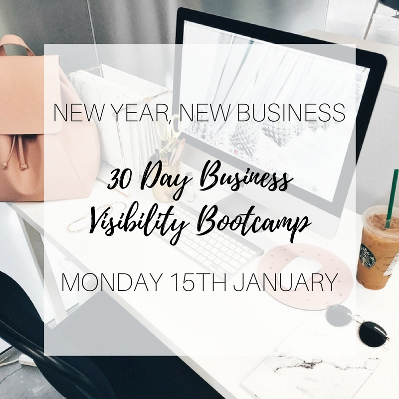 30 Day Business Visibility Bootcamp - New Year New Biz