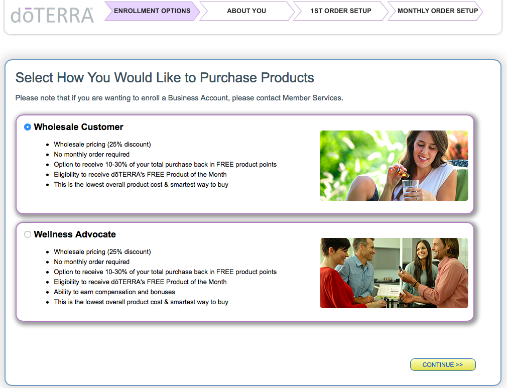 Become a DoTERRA Wholesale customer